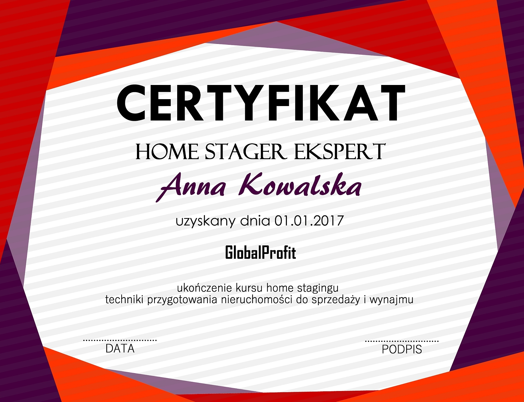 Certyfikat home staging - sekrety home stagingu